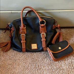 Authentic Dooney & Bourne satchel leather purse